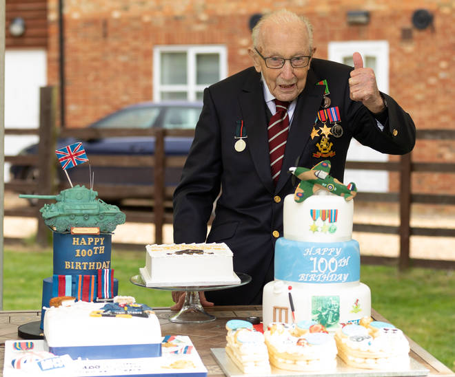 Sir Tom celebrated his 100th birthday last month