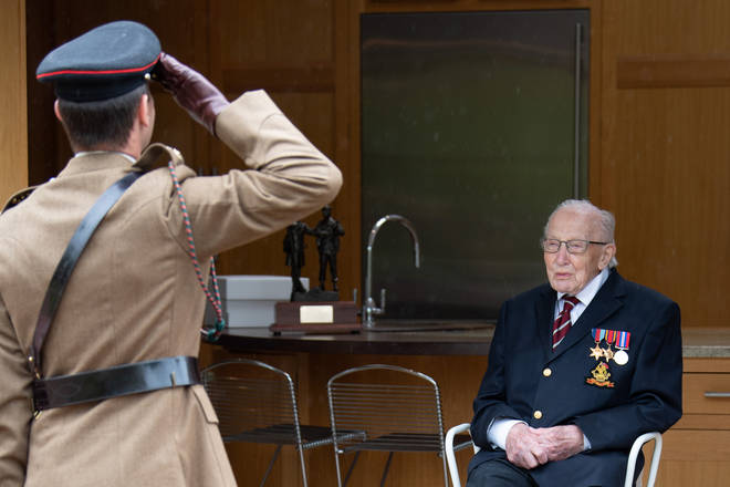 He was made a Colonel to celebrate his centenary