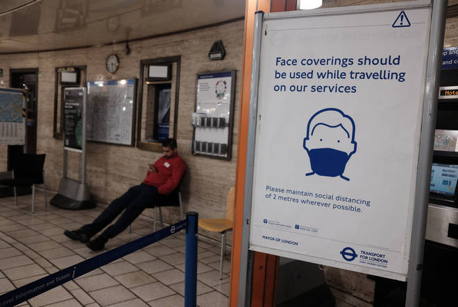 TfL is encouraging the use of face coverings for passengers