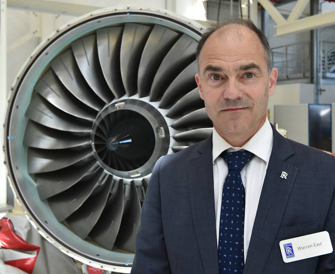 Warren East made the warning after Rolls-Royce announced the company would shed 9,000 jobs