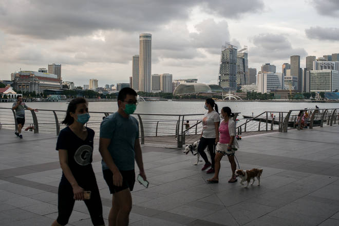 Singapore has one of the highest coronavirus infection rates in Asia