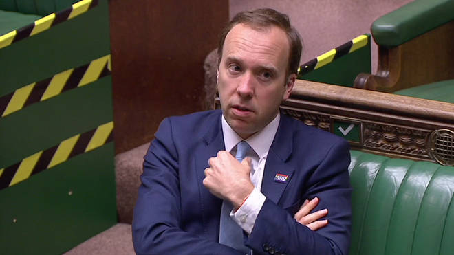 Matt Hancock was berated by the House of Commons Speaker during PMQs