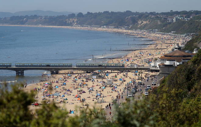 People were clearly enjoying the hot weather in Bournemouth