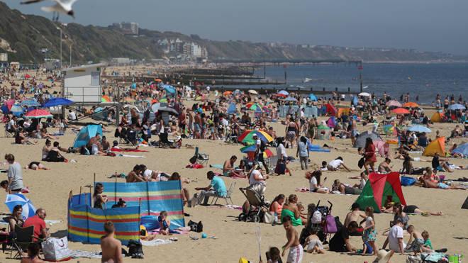 Crowds returned to Bournemouth beach