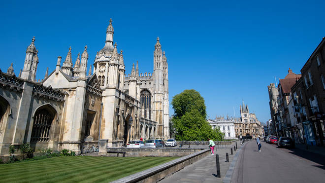 King's College Cambridge in the middle of the coronavirus lockdown