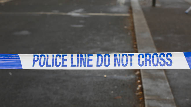 File photo: A crime scene remains in place whilst investigation work is carried out