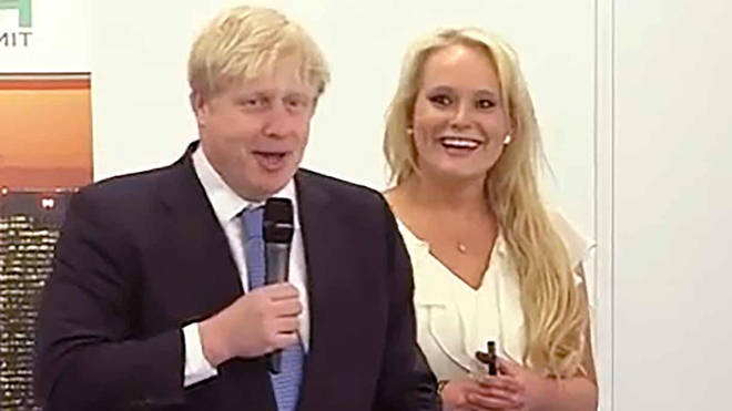 Boris Johnson and Jennifer Arcuri pictured together in 2013
