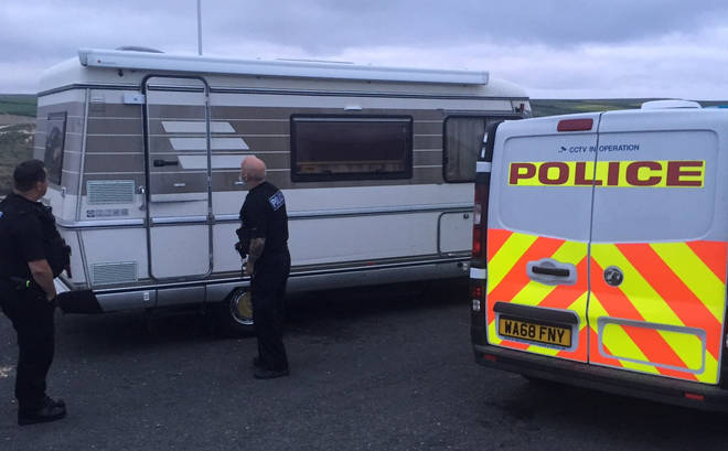 Newquay Police asked people staying overnight in camper vans to leave