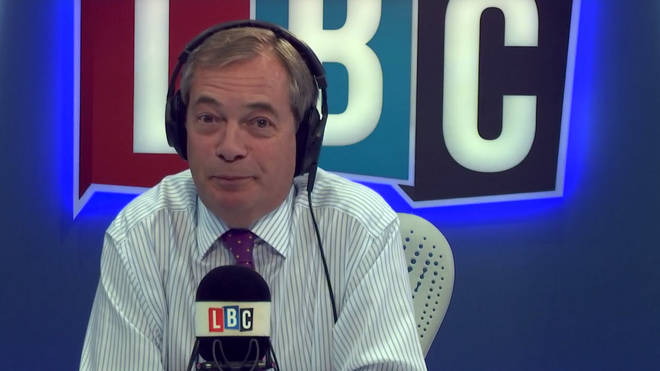 Hillary Clinton said she was disgusted by Nigel Farage