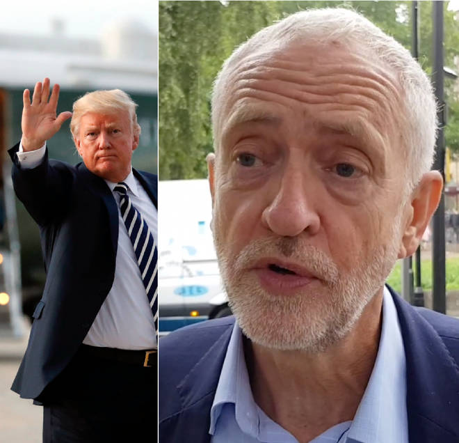 Jeremy Corbyn spoke about Donald Trump