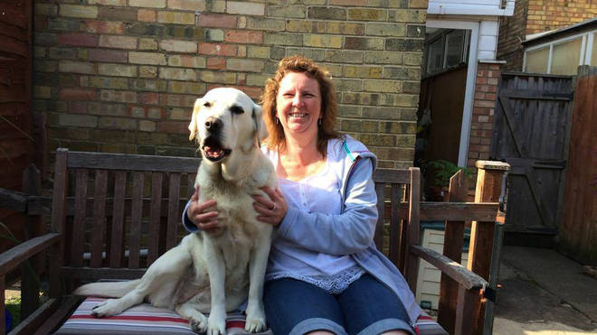 Kathryn Lindgren with her guide dog
