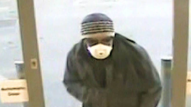 Handout CCTV still issued by Sussex Police of a robbery at the Texco Express store in Shoreham