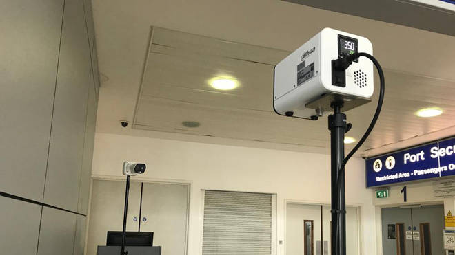 The camera will scan people's body temperature in a non-intrusiive manner