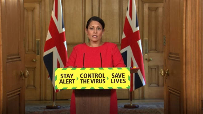 Priti Patel has announced there will be a mandatory quarantine period from 8 June