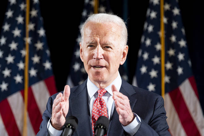 US Presidential nominee Joe Biden