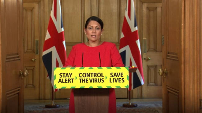 Home Secretary Priti Patel made the announcement at the Downing Street press conference