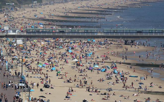 Bournemouth beach last weekend