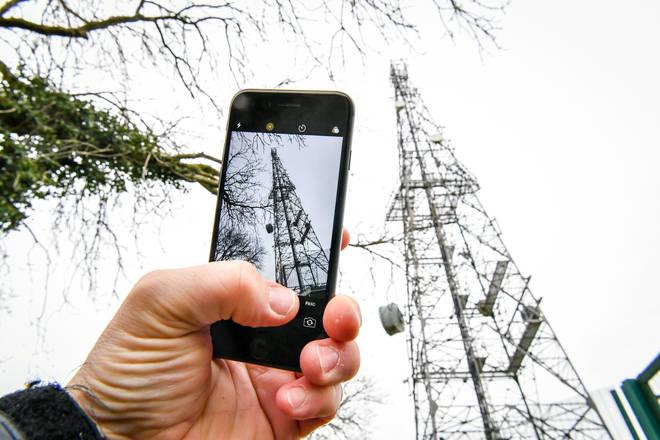 5G phone mast (file image)