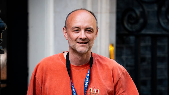 Mr Cummings pictured leaving Downing Street after the public were told he would be keeping his job