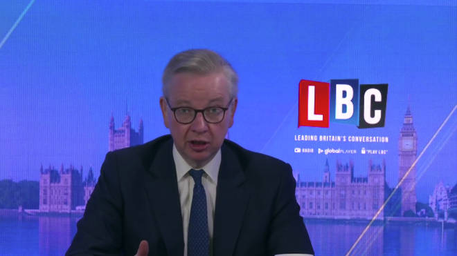 Michael Gove appeared on LBC to defend Dominic Cummings
