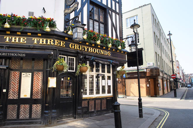 Pubs have been closed since March 23