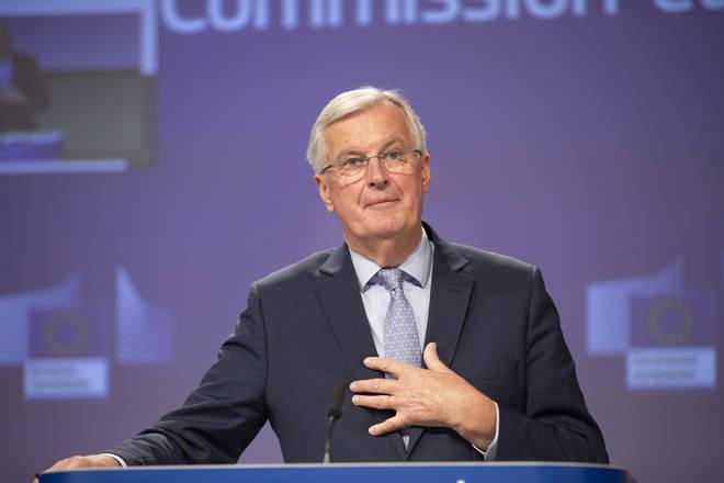 Michel Barnier wrote to Westminster leaders