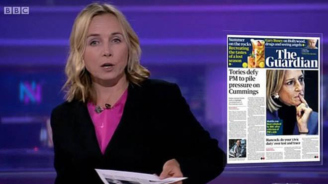 Newsnight UK editor Katie Razzall stepped in last night