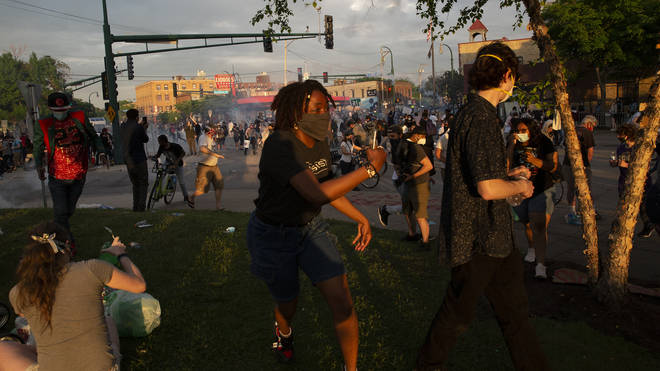 Mass protests have broken out across the city in the wake of the death