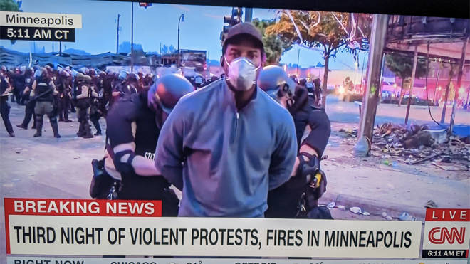 Police arrested Omar Jiminez as he tried to cover the protests in Minneapolis
