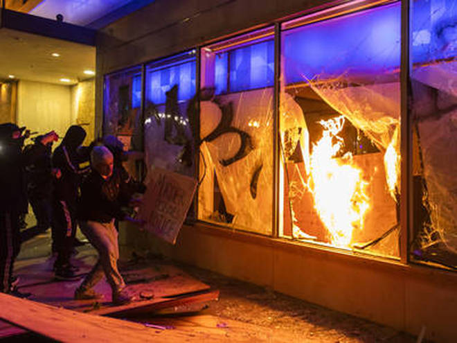 Riots and violent protests have broken out in a number of US cities