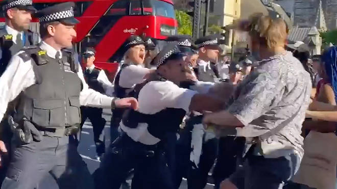 Police have made five arrests during the gathering