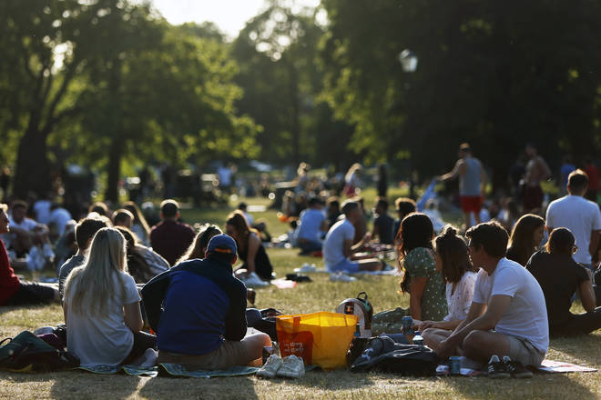 People out on Clapham Common over the weekend