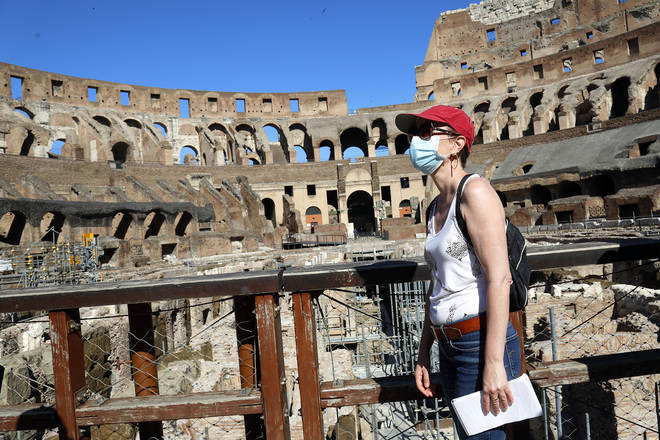 The Colosseum opened its ancient doors in Rome
