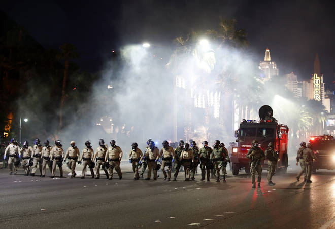 This is the fourth night of protest in Las Vegas