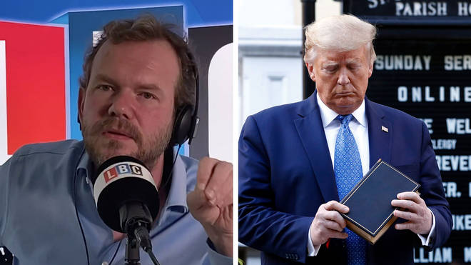 James O'Brien responded to Donald Trump's bible photoshoot