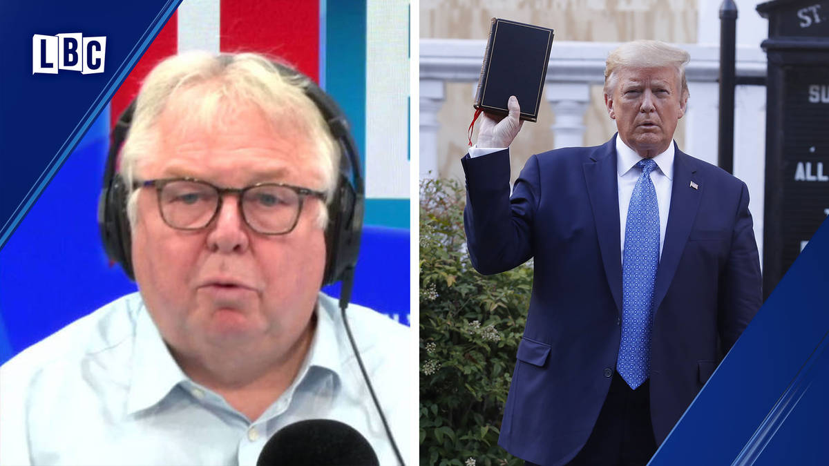 Nick Ferrari rows with Republican chairman who defends Donald Trump over protests