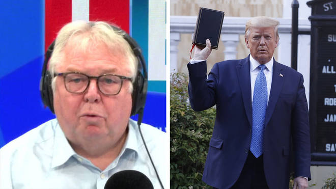 Nick Ferrari rowed with a former Chairman of the Republican Party over whether Donald Trump was right to order police to tear gas protesters outside the White House.