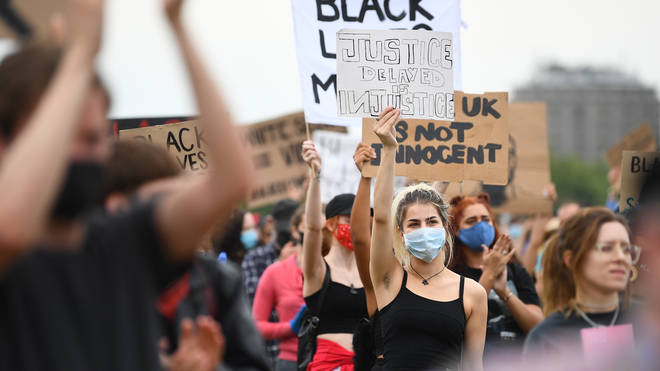Black Lives Matter protests have been revived after Mr Floyd's death