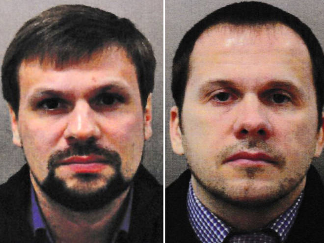 Alexander Petrov and Ruslan Boshirov are being hunted in connection with the Salisbury Poisoning