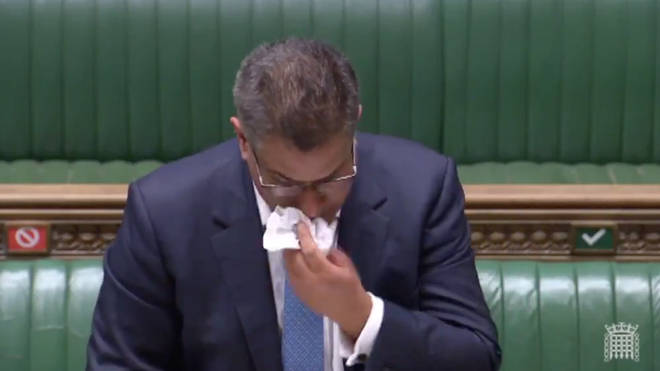 Mr Sharma appeared unwell while speaking at the Commons despatch box yesterday