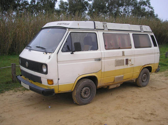 This is the camper van believed to have been driven by the prime suspect