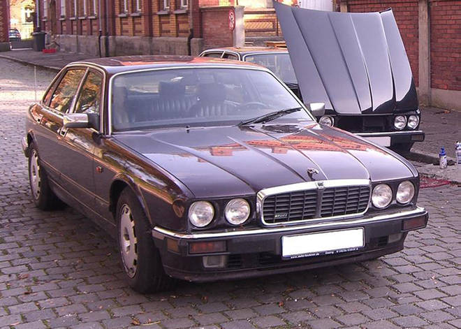 A 1993 Jaguar XJR6 that has been linked to the suspect.