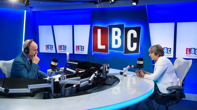 Theresa May was speaking to Iain Dale exclusively on LBC