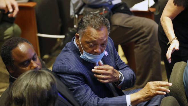 Rev. Jesse Jackson was one of many well-known faces to attend the memorial