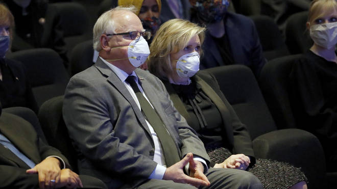 Minnesota Governor Tim Walz attended alongside his wife Gwen