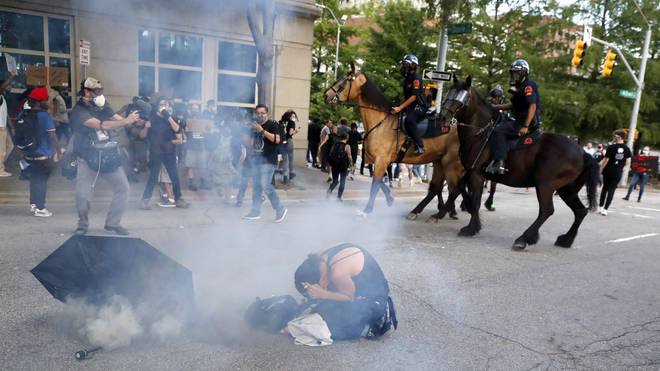 Tear gas has become a common site on the streets of the United States