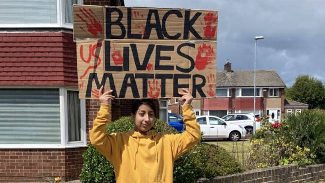 Zara Rehman has been staging solo Black Lives Matter protests