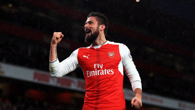 Arsenal's Olivier Giroud is a finalist in the Best Goal category