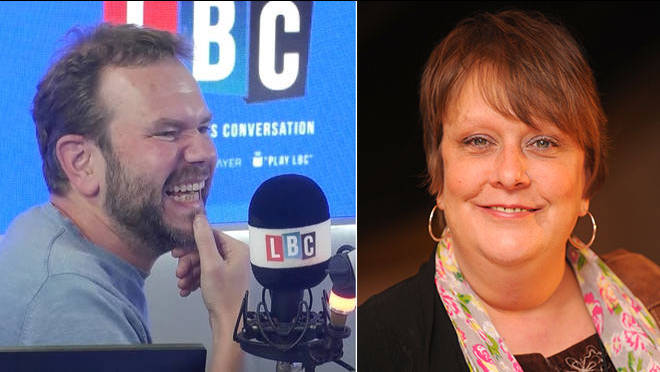 James O'Brien had a very funny conversation with Kathy Burke