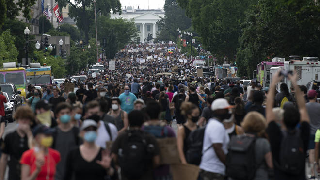 Tens of thousands of people marched in US cities